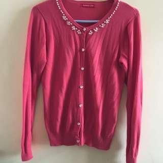 日本Aupuweiser-Riche pink cardigan 針織外套
