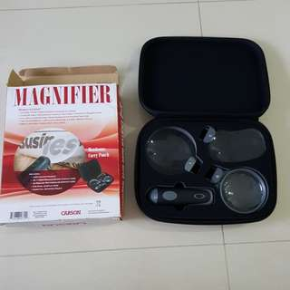 Carson 3 in 1 Lighted Hand-Held Magnifier