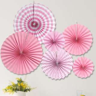 (In Stock)Party Decoration Set-Paper Fan