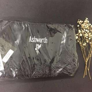 bnip ashworth black pouch/toiletry bag