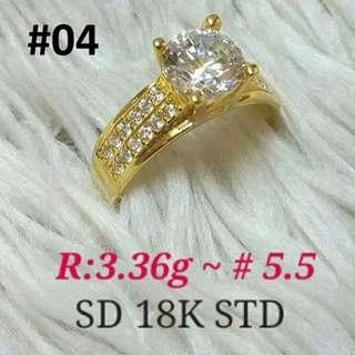 18K SAUDI GOLD TIFFANY RING .,.