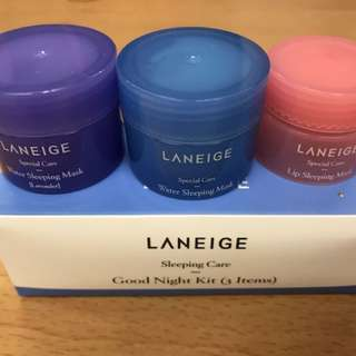 Laneige sleeping care good night kit
