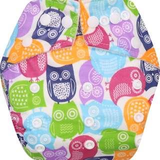 Clodi Popok Kain Bayi Babyland Snap Microfiber Cloth Diaper - Owl