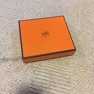 Hermes box (original for men's wallet) W12 x D10.6 x H2.5 cm