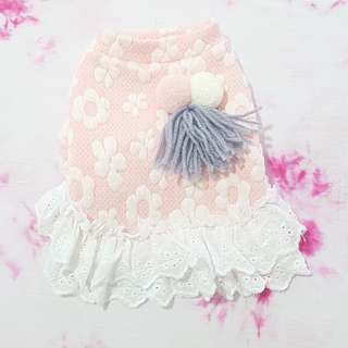 Cute Floral With Lace Dress