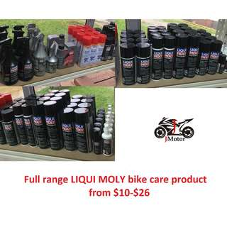 Liqui Moly full range Motorcycle / Motorbike Care Products