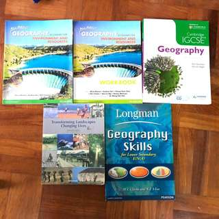 math and geography textbooks