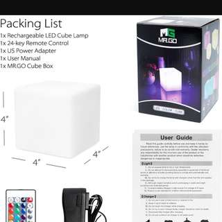 MR.GO Rechargeable LED Cube Light