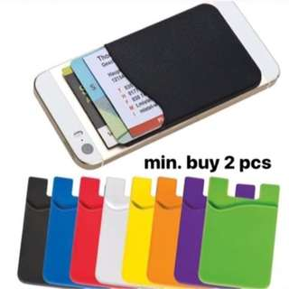 sticky pocket card holder smartphone