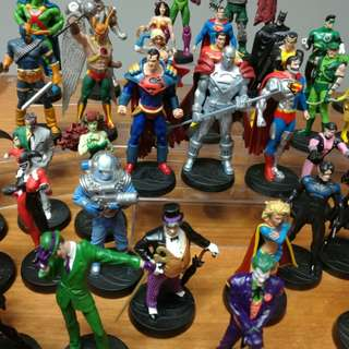Set of 39 DC Comics Eaglemoss Lead Figurine Superman Batman Wonder Woman Joker Bane Toy Action Figure Hot & Rare