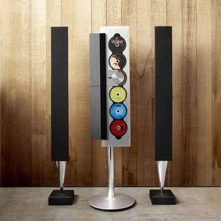 B&O BeoSound 9000 MKII 6CD/Radio, 2 BeoLab 8000 Spkrs + Stand