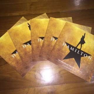 HAMILTON MUSICAL WEST END PROGRAM