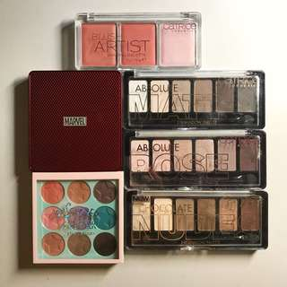 Eyeshadow, Blush & Highlight Palettes