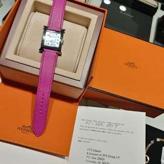 Hermes watch with diamond