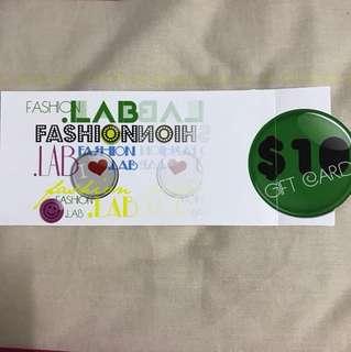 Fashion Lab $10 voucher