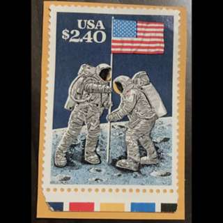 USA stamp astronaut $2.40 unused on paper