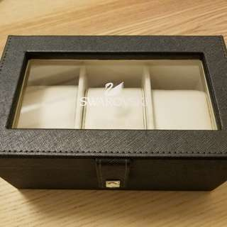 SWAROVSKI 3格錶盒 未用過新舊如圖