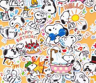 Snoopy Says Scrapbook / Planner Stickers #75