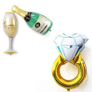 🍾 🥂Champagne/ Wine glass/ Ring foil balloon (postage inclusive)