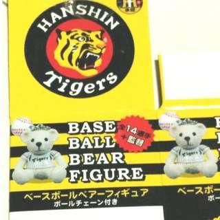 二手2011年已絕版日本職棒阪神隊9號MURTON選手阪神選手泰迪熊小吊飾
