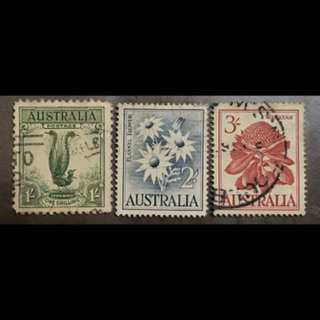 Australia early Definitives 3v mid values to 3 shilling