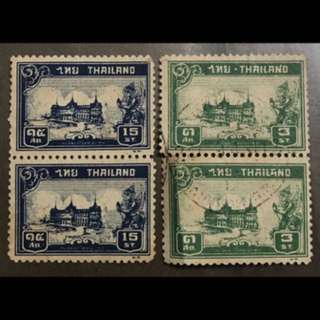 Thailand Siam Early stamps pairs