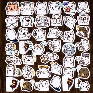 [Instocks 📩] Planner Stickers: Polar Bear (Ver 2.)