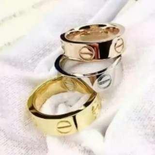 Plain ring unisex couple ring