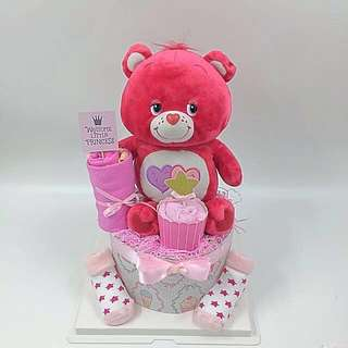 Baby Diaper cake - Care bear