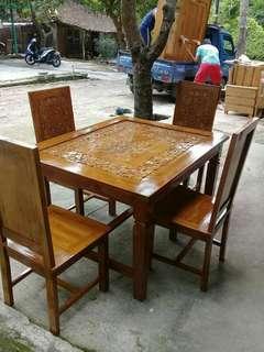Set meja makan minimalis jati
