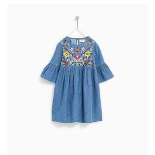 Embroidery Dress For Kids