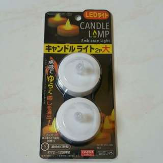 LED Flickering Candles (Warm Light, Pack of 2)