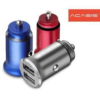 Acasis UC-U224 5V 4.8A USB Charger 汽車 充電器 ( 車充, 車叉 ) - 原裝行貨
