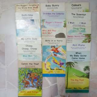 23 MOE CDIS books, P1 reading materals used in schools.