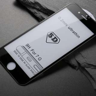 Iphone專用 硬邊5D滿版玻璃貼