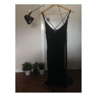 Black Slip-on Dress (Size: S)