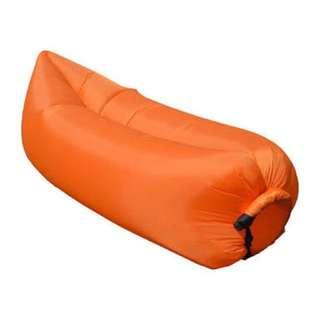 Inflatable Banana Bed (Orange)