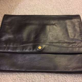 Gold Pfeil full leather pouch W:36cm H:27cm