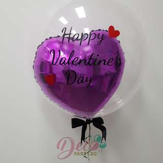 "Valentines Day Early Bird Order Discount 24"" Customized Deco Clear Helium Balloon"
