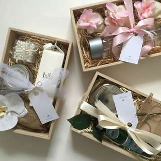 Valentine's bridesmaid gift hampers