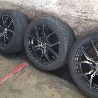 Ssw 16inch rims with Continental tyres