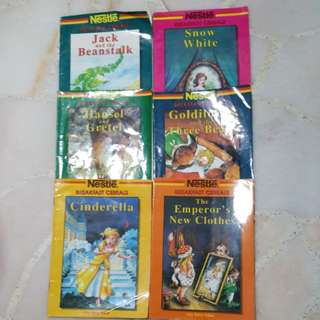 6 complete sets of fairy tales story books.