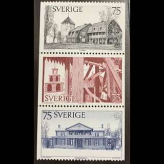 Sweden 3v mint stamps from booklet very fine