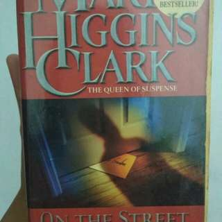 Marry higgins clark's novel (on the street where you live) suspense novel