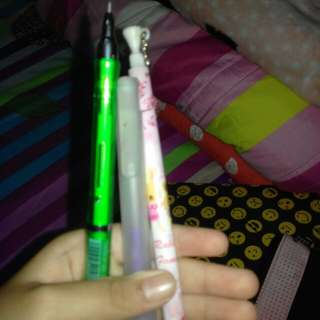 set of two mechanical pencils and 1 eraser pen
