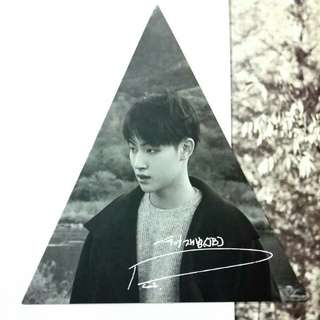 GOT7 7 For 7 Present Edition JB Official Triangle Photocard (2nd Press)