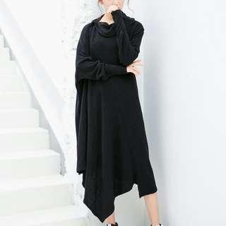 $189 春季針織不規則連身裙 尺寸 : 胸圍150cm 腰圍158cm 袖長62cm 衣長117cm 包郵費