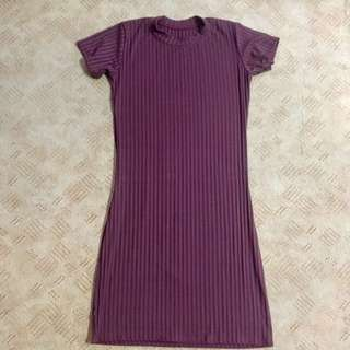 Maroon Body Fit Dress