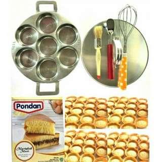 Cetakan Kue 7 Lubang Wauw Takoyaki Lumpur Serabi apem Cubit Martabak Mini Lipat Serabi Pancake