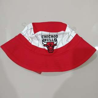 Mitchell and Ness 90's Vintage Chicago Bulls Pinstripe Bucket Hat